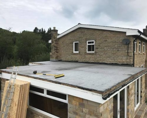 Fibreglass Grp roof laid @Salterforth Insulated with an expansion joint #Seamless